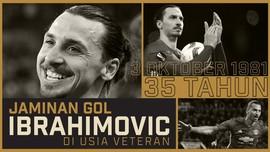 Jaminan Gol Ibrahimovic di Usia Veteran
