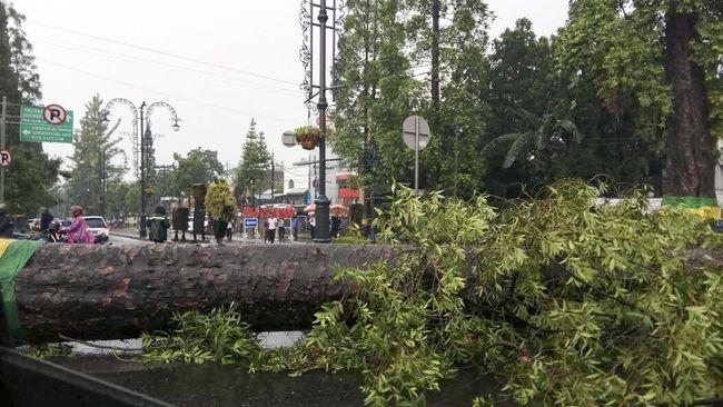 Angin kencang di Kota Batu, Jatim, menewaskan satu orang, membuat 1.216 warga mengungsi, serta merusak 20 rumah dan fasilitas umum.