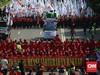 Polisi Adang Ribuan Buruh Unjuk Rasa ke Istana