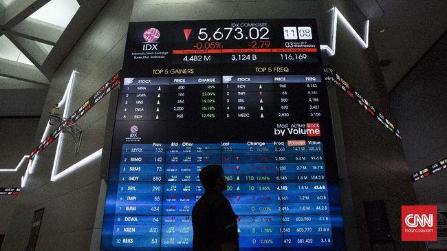 IHSG terperosok 1,5 persen ke level 5.452,7 pada perdagangan Jumat (28/2).