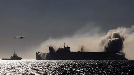 Kapal Kargo Kimia Tenggelam di Sri Lanka Usai Terbakar