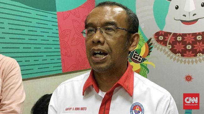 Gatot diminta polisi untuk memberi keterangan terkait pengaturan skor pada pertandingan sepakbola di Liga Indonesia baik di liga III, II, maupun liga I.