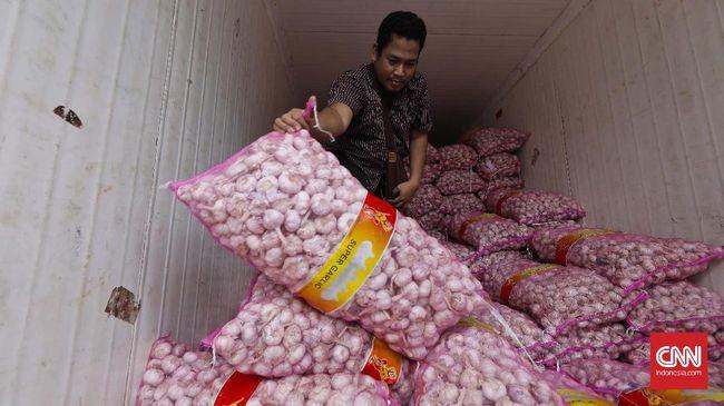 Kementerian Perdagangan mencatat sisa stok bawang putih impor sebanyak 100 ribu ton. Stok ini cukup untuk memenuhi konsumsi dalam negeri selama tiga bulan.