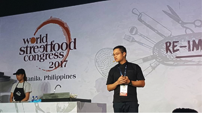 Bahan makanan lokal khas Indonesia dipamerkan dalam ajang World Street Food Congress 2017 di Manila, Filipina.