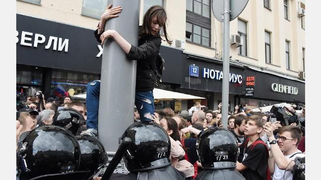 Polisi Rusia Tahan 1.500 Demonstran Tuntut Pembebasan Oposisi