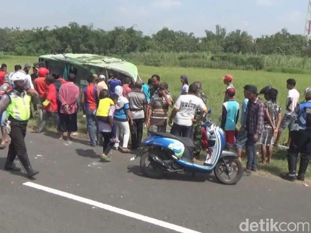 Sempat Kabur, Awak Bus Restu yang Terguling di Sawah Ditangkap