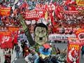 Jelang Laporan Tahunan Duterte, Demonstran Turun ke Jalan