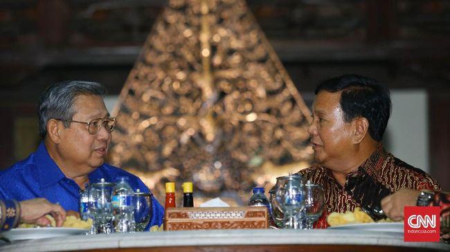 Dua elite politik Susilo Bambang Yudhoyono dan Prabowo Subianto akan menjalin pertemuan politik malam ini untuk mematangkan sikap menghadapi Pilpres 2019.