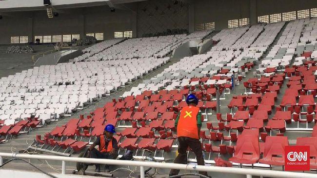 Menpora RI Imam Nahrawi menerangkan, SUGBK mengalami pengurangan kapasitas tempat duduk usai direnovasi untuk Asian Games 2018.