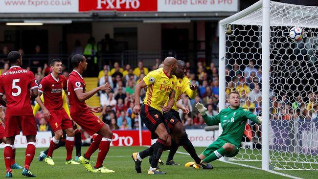 Babak Pertama: Liverpool Tertinggal 1-2 dari Watford