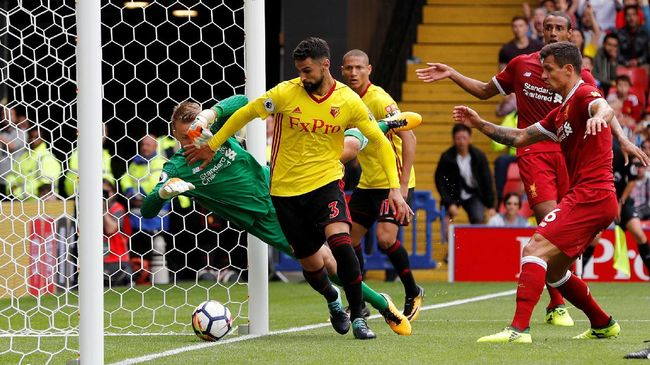 Liverpool Buang Keunggulan, Ditahan Imbang Watford 3-3
