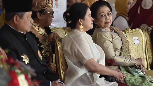 Presiden kelima RI Megawati Soekarnoputri dan Presiden keenam RI SBY hadir di Sidang Tahunan MPR secara online, Jumat (14/8).