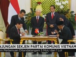 Pertemuan Sekjen PKV dan Jokowi