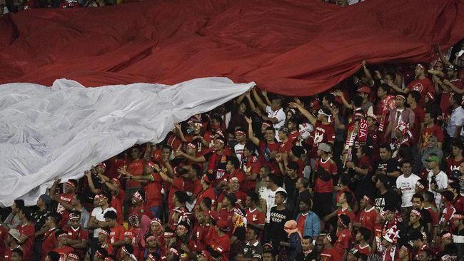 PSSI meminta suporter tertib saat laga Timnas Indonesia vs Malaysia pada kualifikasi Piala Dunia 2022 di Stadion Utama Gelora Bung Karno, 5 September 2019.