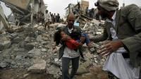 Serangan Udara Koalisi Arab Tewaskan 12 Warga Yaman