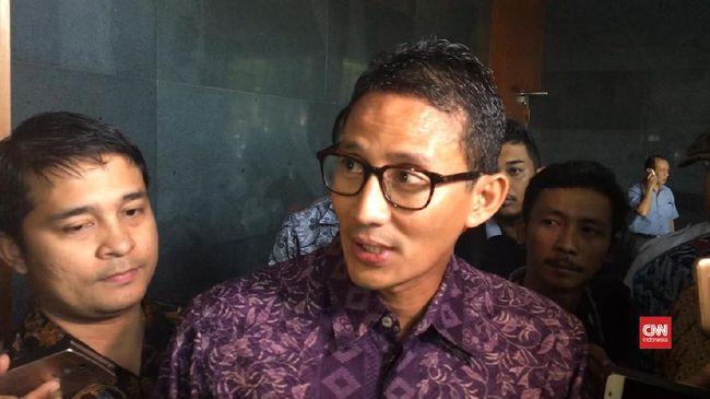 Sandiaga meminta polisi menunda pemeriksaannya dalam kasus penggelapan tanah karena berdalih sibuk mengurus persiapan pelantikan wakil gubernur.
