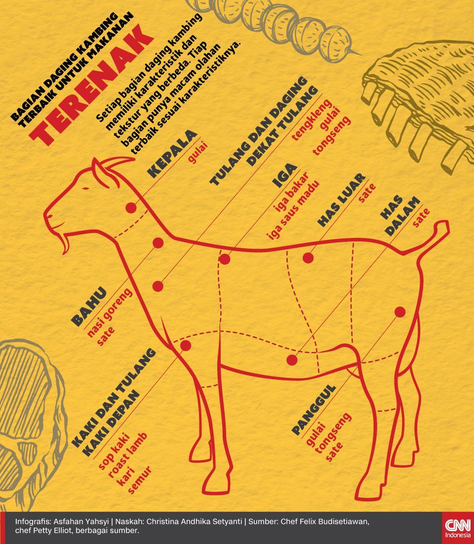Bagian Daging Kambing Terbaik untuk Makanan Terenak