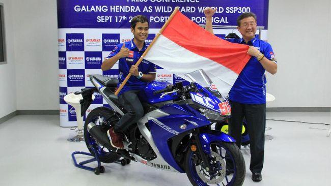 Galang Hendra Pratama berhasil meraih pole position di seri Misano pada World Super Sport 300.