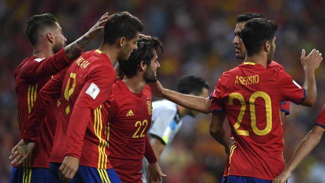 Timnas Yunani mampu mengimbangi tuan rumah Spanyol dalam laga Grup B Babak Kualifikasi Piala Dunia 2022 zona Eropa.