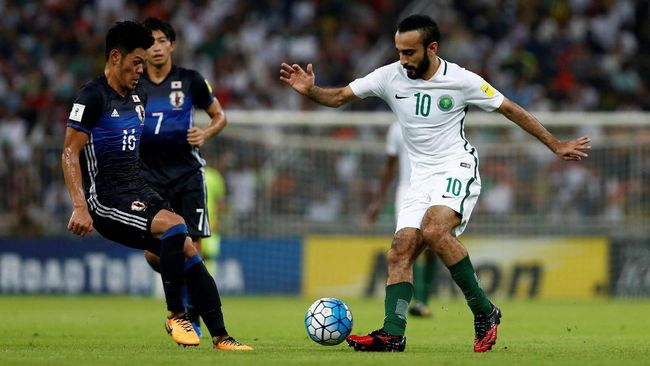 Arab Saudi kembali tampil di Piala Dunia 2018 setelah absen pada perhelatan Piala Dunia di Afrika Selatan dan Brasil.
