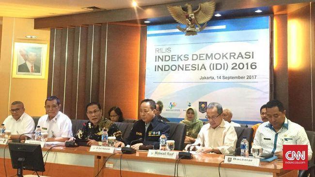 Indeks Demokrasi Indonesia Turun ke Level 70,09