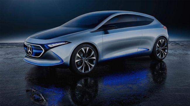 EQA berdimensi kecil seperti mobil perkotaan tapi dirancang dengan kesan mobil masa depan.