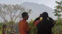 FOTO: Gunung Agung Berstatus Siaga
