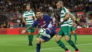 FOTO: Lionel Messi Menggila, Ciptakan Empat Gol