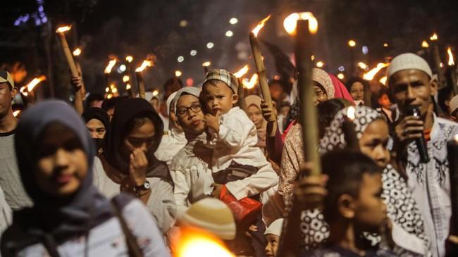 FOTO: Suka Cita Warga Sambut Tahun Baru Islam 1439 Hijriah