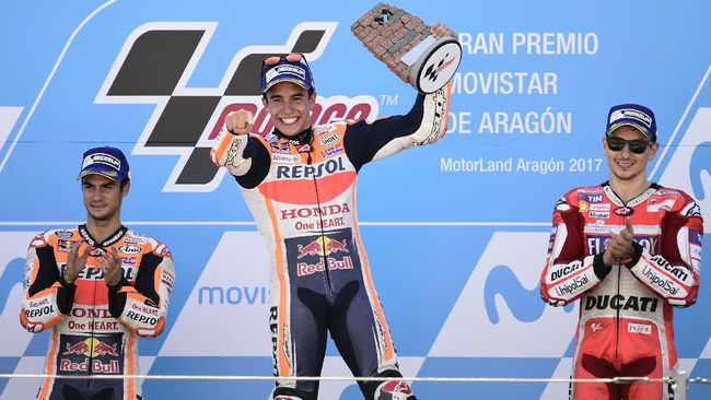 Marquez Unggul 16 Poin, Posisi Rossi Melorot