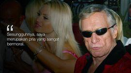 FOTO: Kicau Liar Hugh Hefner Si Raja 'Playboy'