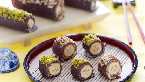 Banana Sushi, Camilan Praktis Aneka Topping yang Bisa Dibikin Dalam 5 Menit