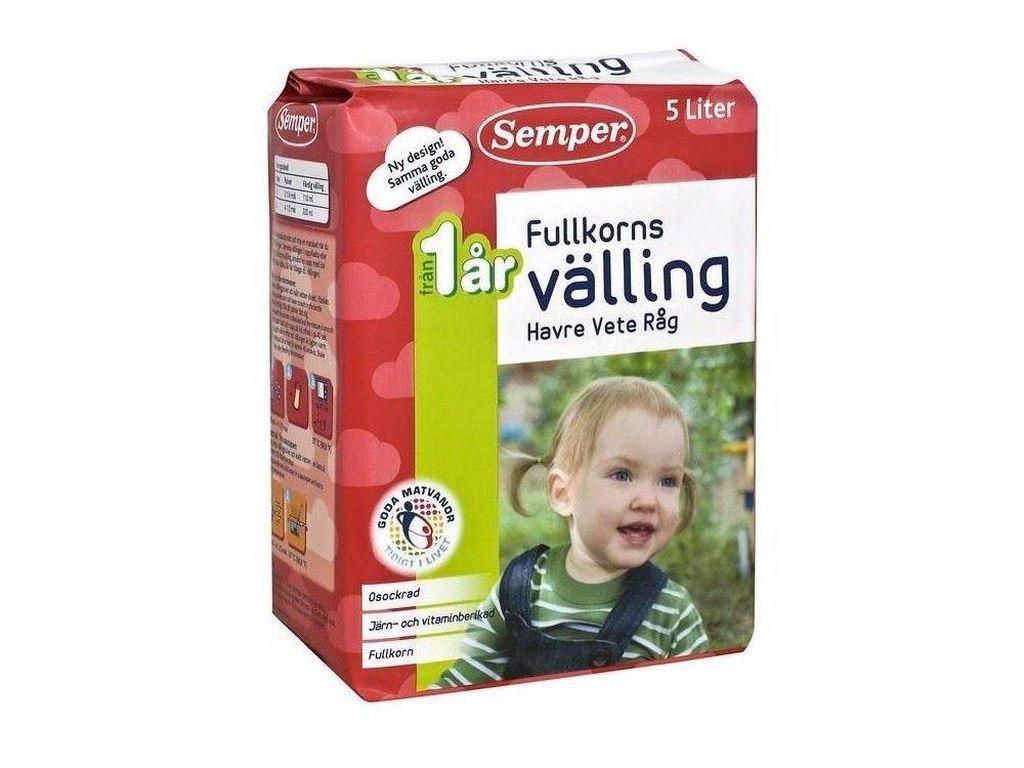 Bayi di Swedia dengan usia di atas 6 bulan biasa menyantap minuman manis seperti sereal yang kental. Ini membuat mereka kenyang dan membantu pertumbuhannya. Landasan makanan bayi tersebut dikenal dengan nama Valling. Produk makanan seperti minuman itu mirip susu formula tapi lebih kental. Layaknya percampuran susu dengan sereal bayi.