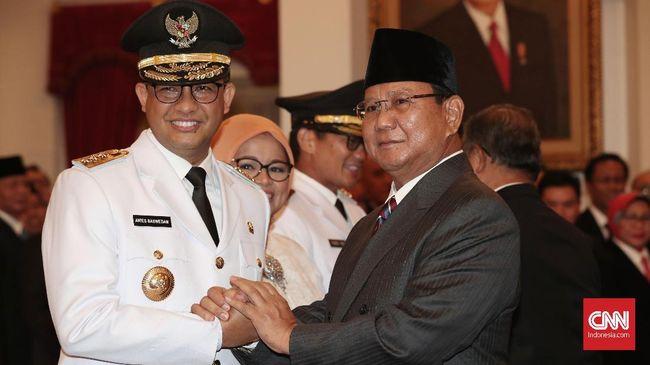 Elektabilitas Prabowo Subianto sebesar 17,5 persen disusul Anies Baswedan 17 persen dan Ganjar Pranowo 8,1 persen.