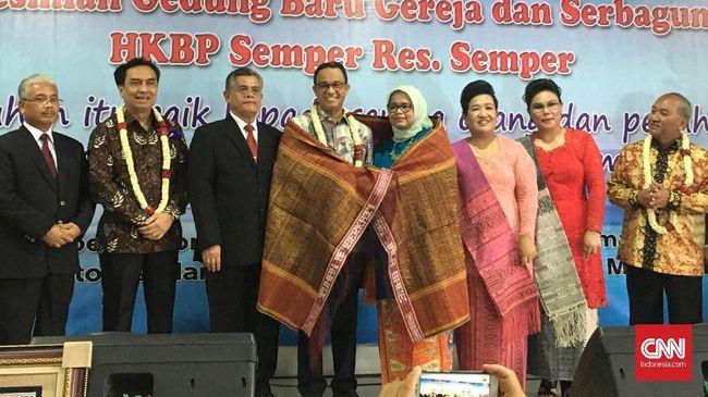 Gubernur DKI Jakarta Anies Baswedan mengatakan, HKBP merupakan organisasi yang berperan penting merawat bangsa dengan melibatkan unsur jemaatnya.