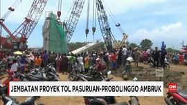 VIDEO: Jembatan Proyek Tol Pasuruan-Probolinggo Ambruk