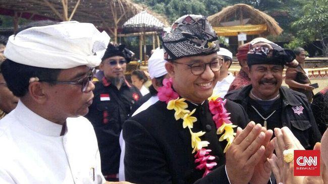 Resmikan Pura, Anies Berharap DKI Jadi Contoh Toleransi