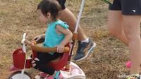 <p>Wah, sampai bawa sepeda nih biar si kecil senang dan semangat.</p>