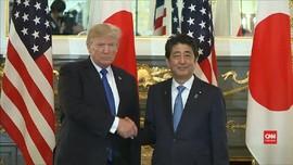 VIDEO: Bertemu Shinzo Abe, Trump Galang Persatuan Lawan Korut