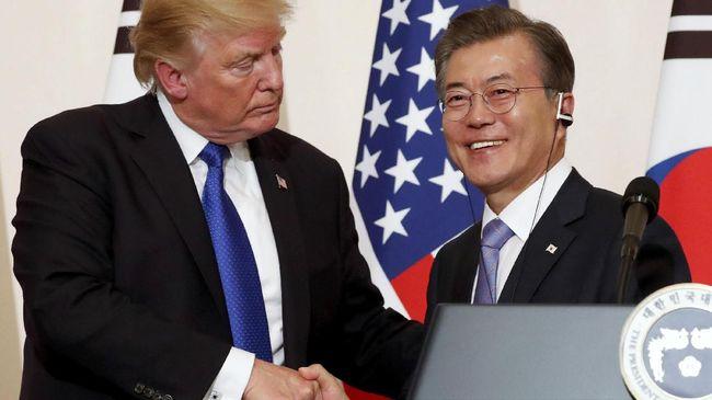 Presiden Moon Jae-in mengatakan bahwa Donald Trump memegang andil besar sehingga pertemuan tingkat tinggi Korsel dan Korut dapat terjadi pada Selasa (9/1).