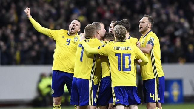 Swedia memupuskan ambisi Italia ke Piala Dunia 2018 setelah menang 1-0 di babak play-off kualifikasi zona Eropa.