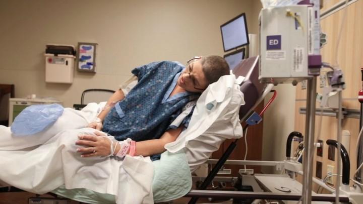<p>Jelang si kecil lahir, kontraksi juga dirasakan wanita bernama lengkap Maria Crider ini. (Foto: www.bonniehussey.com)</p>
