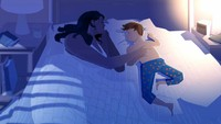 "<div>""Sekalipun lagi tidur, Bunda tetap melindungi kamu, Nak."" (Foto: Instagram/pascalcampionart)</div>"