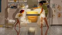 <div>Kapan terakhir kali seru-seruan masak bareng si kecil? (Foto: Instagram/pascalcampionart)</div>