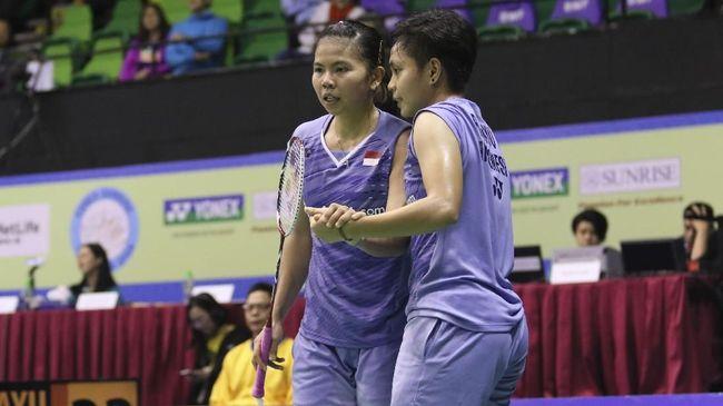 Ganda putri Indonesia, Greysia Polii/Apriyani Rahayu dapat perlawanan sengit dari pasangan Bulgaria saat meraih gelar Spanyol Masters 2020.