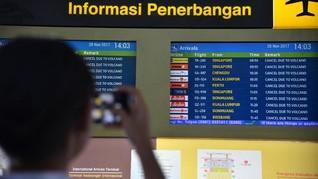 19 Penerbangan Terdampak Kebakaran Bandara I Gusti Ngurah Rai