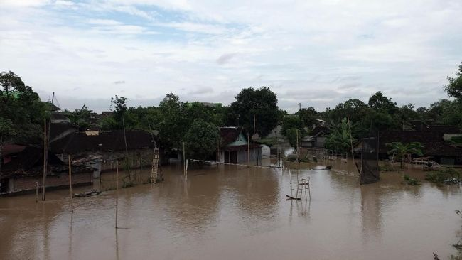 Total ada 48 desa di 10 kecamatan di Kabupaten Bojonegoro terendam banjir akibat luapan Sungai Bengawan Solo, sementara kerugiannya mencapai Rp1 miliar lebih.