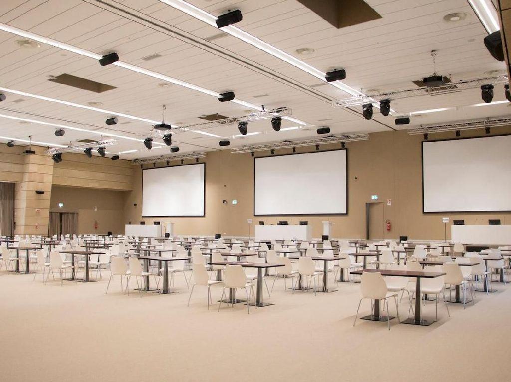 Ini dia suasana kelas pembelajaran di Eataly World. Mirip aula besar di kampus ya? Foto: Istimewa