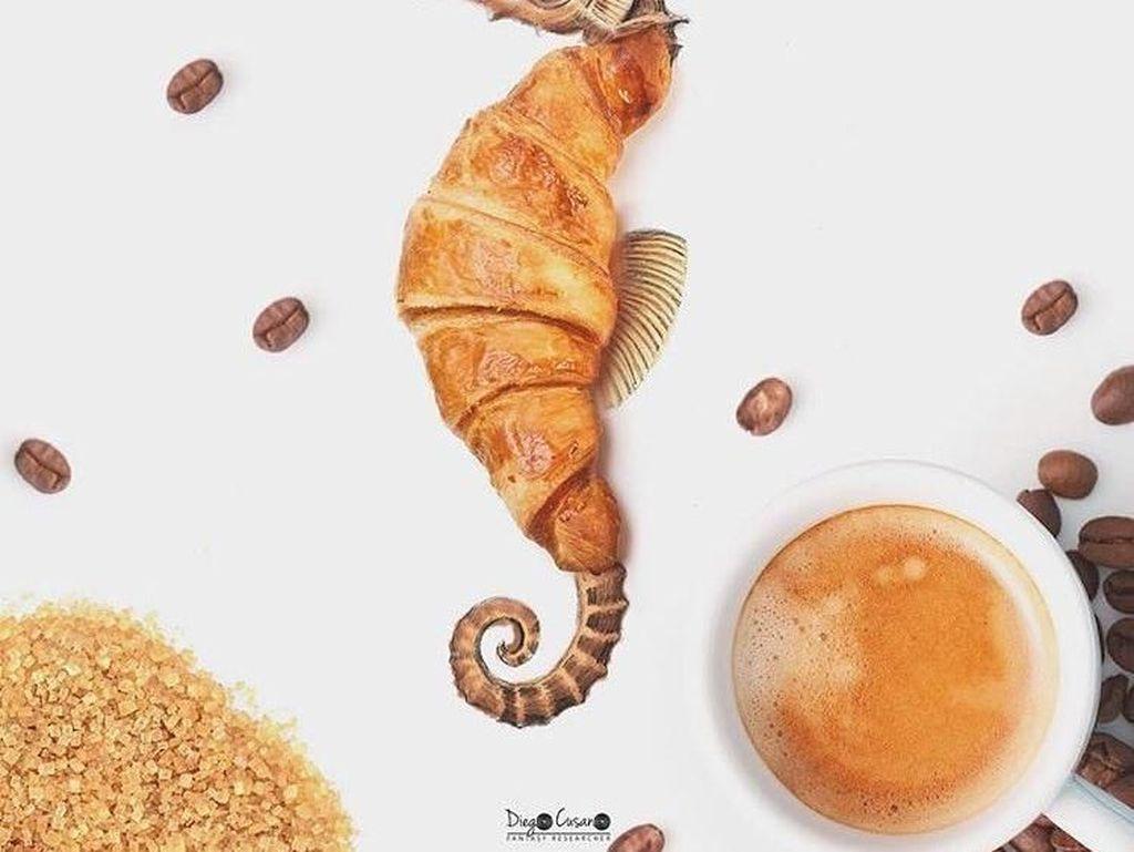 Lihat! Si kuda laut ini begitu anggun. Sadar atau tidak, bagian tubuhnya itu adalah sebuah croissant. Foto: Diego Cusano