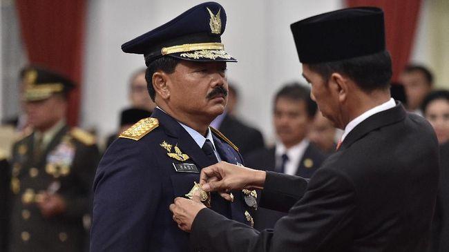 Presiden Jokowi menambah 60 ruang jabatan baru bagi perwira tinggi TNI yang dipicu oleh kehadiran sejumlah organisasi baru, seperti Kogabwilhan.